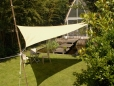 Voile d'ombrage triangulaire 3.60m - Ivoire