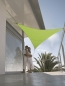 Voile triangle 5 m vert anis